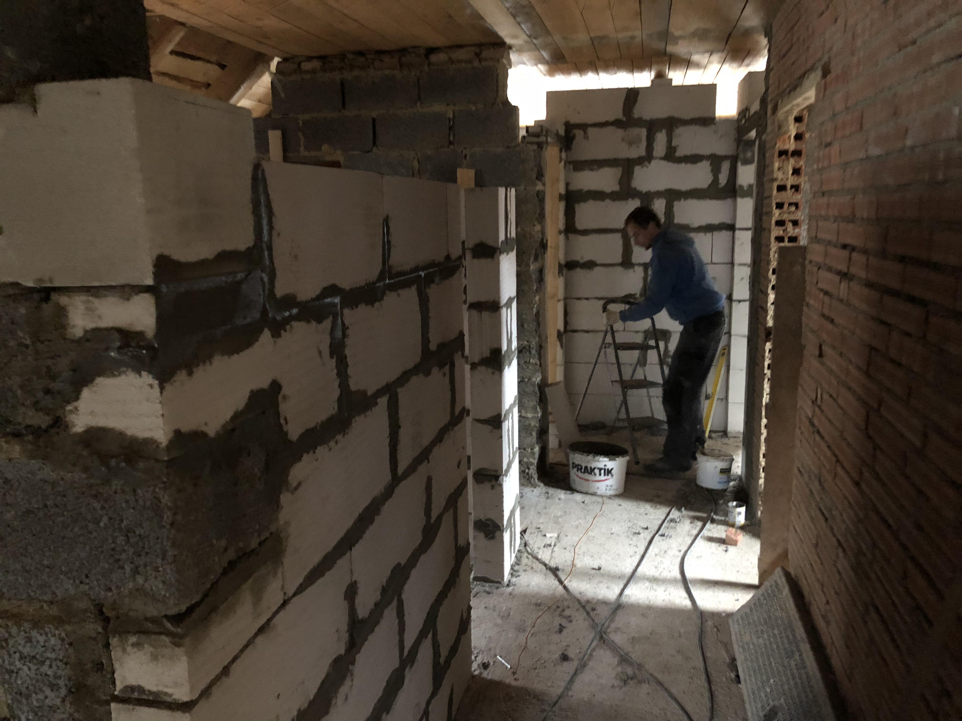 Zednické práce, Rekonstrukce